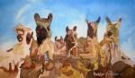 Obras de arte: America : Chile : Tarapaca : Arica : Llamas 1