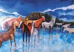 Obras de arte: America : Chile : Tarapaca : Arica : Tropa de caballos