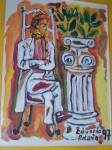 Obras de arte: Europa : España : Galicia_Pontevedra : pontevedra : hombre sentado