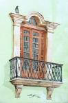 Obras de arte: America : México : Campeche : Campeche_ciudad : Balcon Calle 8