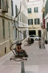Obras de arte: Europa : España : Islas_Baleares : Es_Castell : escultura en la calle 1