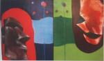 Obras de arte: Europa : España : Galicia_Pontevedra : pontevedra : diptico a dos colores