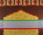 Obras de arte: America : Colombia : Antioquia : Medellín : De la serie Quimeras, casa tras el horizonte, Acrílico sobre lienzo.