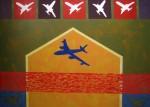 Obras de arte: America : Colombia : Antioquia : Medellín : De la serie Quimeras, Encrucijada Azul