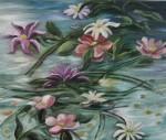 Obras de arte: Europa : España : Castilla_la_Mancha_Guadalajara : Moranchel : flores en el agua