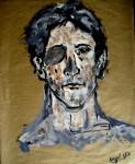 Obras de arte: Europa : España : Madrid : alcala_de_henares : Autorretrato con destrucción abrasiva