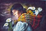 Obras de arte: America : Perú : Cusco : cusco_ciudad : vendo flores