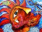 Obras de arte: America : Paraguay : Amambay : Pedro_Juan_Caballero : payaso con pajaro