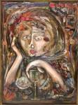 Obras de arte: America : Argentina : Buenos_Aires : Ciudad_de_Buenos_Aires : mujer con copa y recuerdos