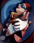 Obras de arte: America : Argentina : Buenos_Aires : Caballito : arlequin con guitarra