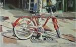 Obras de arte: Europa : España : Catalunya_Barcelona : Barbera_del_Valles : bicicleta roja