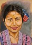 Obras de arte: Europa : España : Euskadi_Bizkaia : Bilbao : Mujer de Bali-Indonesia