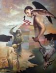 Obras de arte: America : México : Jalisco : Guadalajara : cordero por el caballo negro