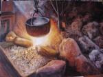 Obras de arte: Europa : Espa�a : Andaluc�a_Huelva : huelva : Caldero en el fuego