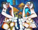 Obras de arte: America : Cuba : Ciudad_de_La_Habana : miramar_playa : Vecinas.