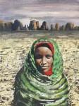 Obras de arte: Europa : Alemania : Berlin : Reinickendorf : Tubu Woman in Front of Desert Mountains