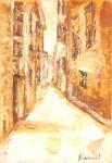 Obras de arte: Europa : España : Catalunya_Tarragona : Banyeres_Penedes : Calle rural