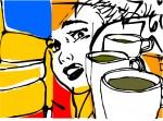 Obras de arte: Europa : España : Castilla_la_Mancha_Cuenca : cuenca_ciudad : three coffee cups
