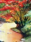 Obras de arte: America : Colombia : Santander_colombia : Bucaramanga : arboles  rojos