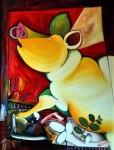 Obras de arte: Europa : España : Cantabria : Santander : cerdo amarillo