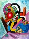 Obras de arte: Europa : España : Cantabria : Santander : niña dibujando