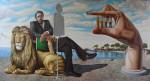 Obras de arte: Europa : Albania : Qarku_i_Fierit : Fier : Doctor Adhamudhi y la mano grande con pequeñas personas