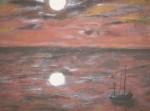 Obras de arte: America : Uruguay : Rio_Negro : Young : Luna en rojo