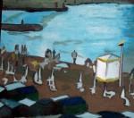 Obras de arte: America : Argentina : Buenos_Aires : Ciudad_de_Buenos_Aires : Atardecer en la playa