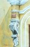 Obras de arte: America : M�xico : Campeche : Campeche_ciudad : Voluta, Casona de M�rida, Yuc.