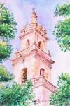 Obras de arte: America : México : Campeche : Campeche_ciudad : Torre Campanario de Catedral, Mérida