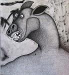 Obras de arte: Europa : España : Cantabria : Santander : hombre perro