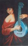 Obras de arte: America : Guatemala : Guatemala-region : Guatemala-ciudad : Mandolina Azul