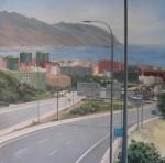 Obras de arte: Europa : España : Canarias_Santa_Cruz_de_Tenerife : Santa_Cruz_Tenerife : Autopista, mediodia de verano