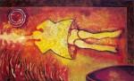 Obras de arte: America : México : Chiapas : Tuxtla : Personaje y espiral de fuego