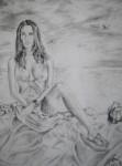 Obras de arte: America : Perú : Lima : Lima_cercado : mujer en la playa