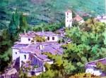 Obras de arte: Europa : España : Andalucía_Almería : Almeria : Panorámica de Bubión - Las Alpujarras - Granada