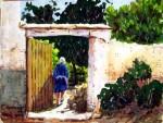 Obras de arte: Europa : España : Andalucía_Almería : Almeria : Entrando al Huerto