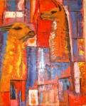 Obras de arte: America : Perú : Cusco : cusco_ciudad : LLamas