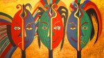 Obras de arte: America : Colombia : Santander_colombia : Bucaramanga : MASCARAS AFRICANAS