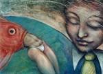 Obras de arte: America : Argentina : Cordoba : cordoba_capital : el pez que se come al hombre de la mujer negra de corbata amarilla