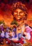 Obras de arte: America : Honduras : Lempira : GRACIAS_ : LUNA DE FIESTA