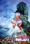 Obras de arte: America : Honduras : Lempira : GRACIAS_ : MADREMONTAÑA CON MALINCHE