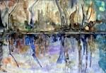 Obras de arte: Europa : España : Catalunya_Barcelona : Cerdanyola : Reflejos en el estanque