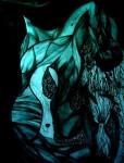 Obras de arte: America : Argentina : Buenos_Aires : Mar_del_Plata : Caballo preto