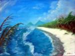 Obras de arte: America : Honduras : Atlantida : Tela : Playa