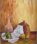 Obras de arte: Europa : España : Castilla_y_León_Palencia : palencia : Bodegón con botella de vino