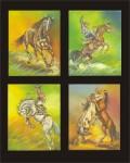 Obras de arte: America : Colombia : Distrito_Capital_de-Bogota : Bogota : composición caballos