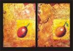 Obras de arte: America : Colombia : Distrito_Capital_de-Bogota : Bogota : frutas-díptico