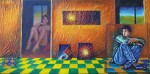 Obras de arte: America : Colombia : Distrito_Capital_de-Bogota : Bogota : a la espera