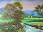 Obras de arte: America : Colombia : Distrito_Capital_de-Bogota : Bogota_ciudad : PAISAJE SABANERO